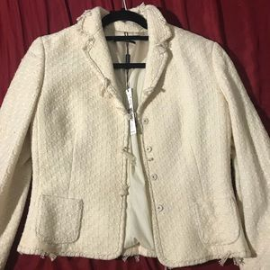 NWT Elie Tahari Wool & Cotton Blazer
